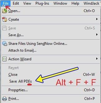 Save All PDFs = Alt+F+F.jpg