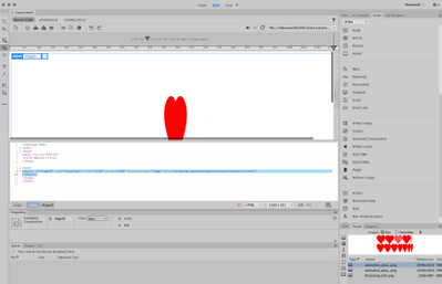 in dreamweaver. (animation works with mouse over)