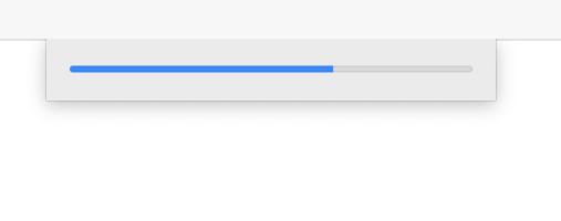 Adobe Xd loading bar (on open)