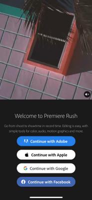 Rush Login Screen
