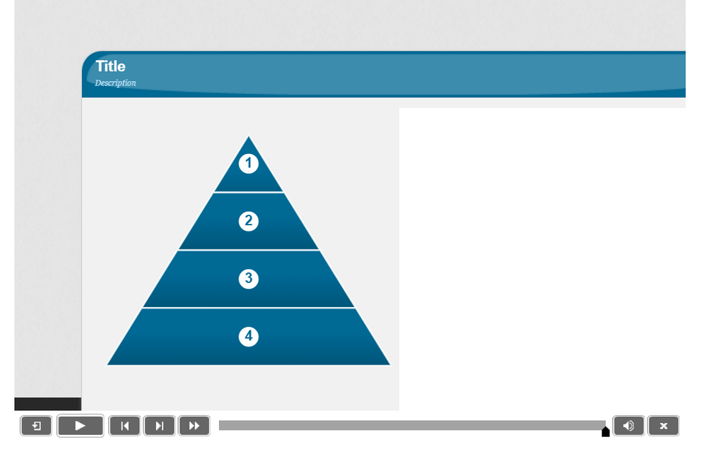 How it looks when previewed or published in HTML5