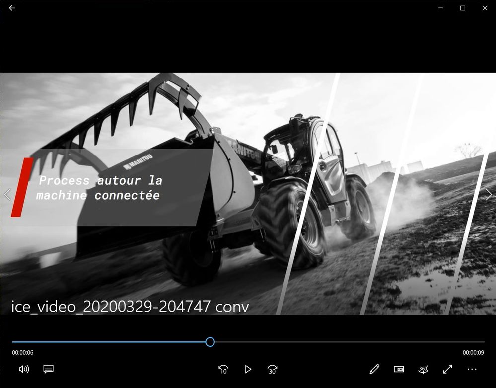 Screen shot from windows media player