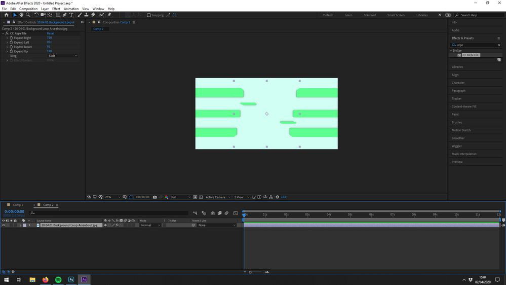 CC RepeTile Feature in AE