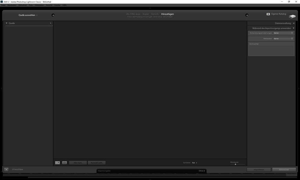 import dialog window