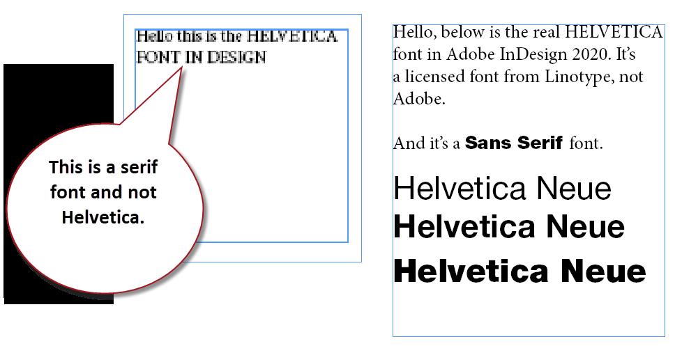 Sample of Helvetica Neue.
