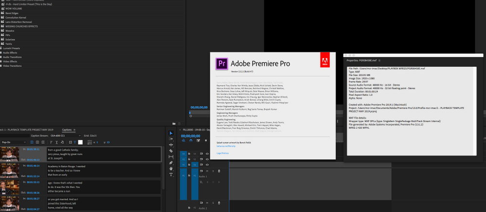 MXF Export from Premiere