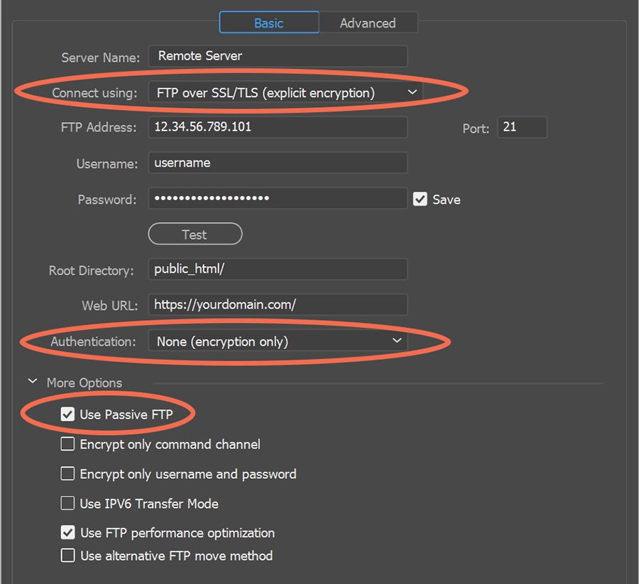 SSL/TLS (explicit encryption)