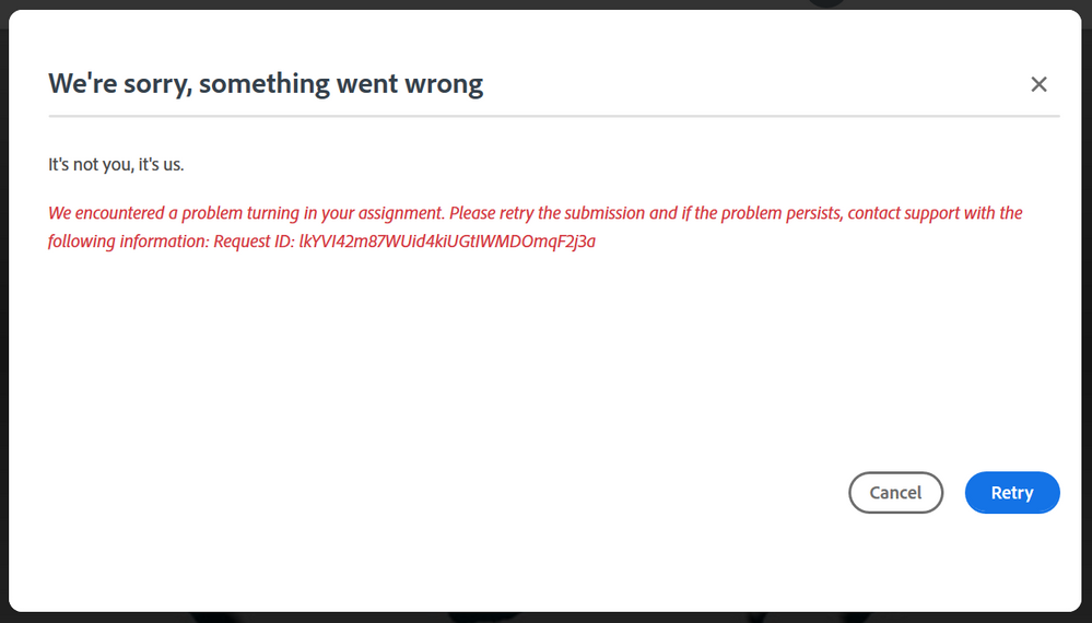 Adobe Spark error