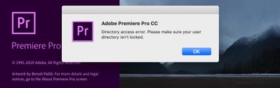 Directory access error