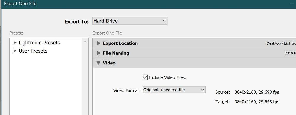 "Error when selecting ""Original"" on image"