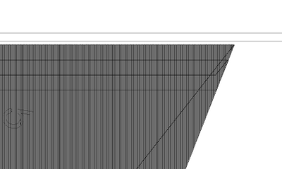 Zoomed in further in outline mode, shows the density of the lines.