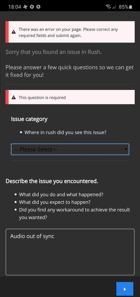 does not work request report bug