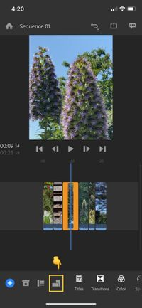 Screenshot of edit mode in Rush