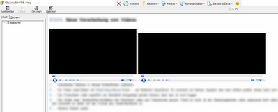 Same content. CHM output: None of the videos are working