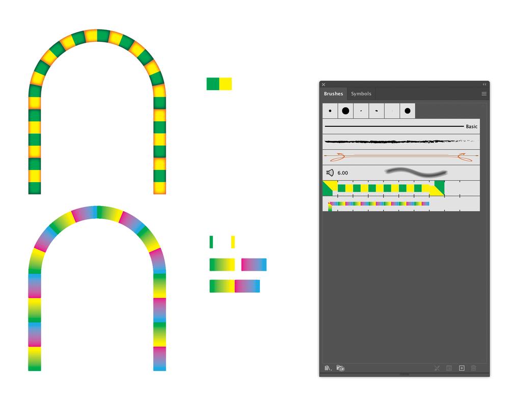 Blend tool to make pattern brush.png
