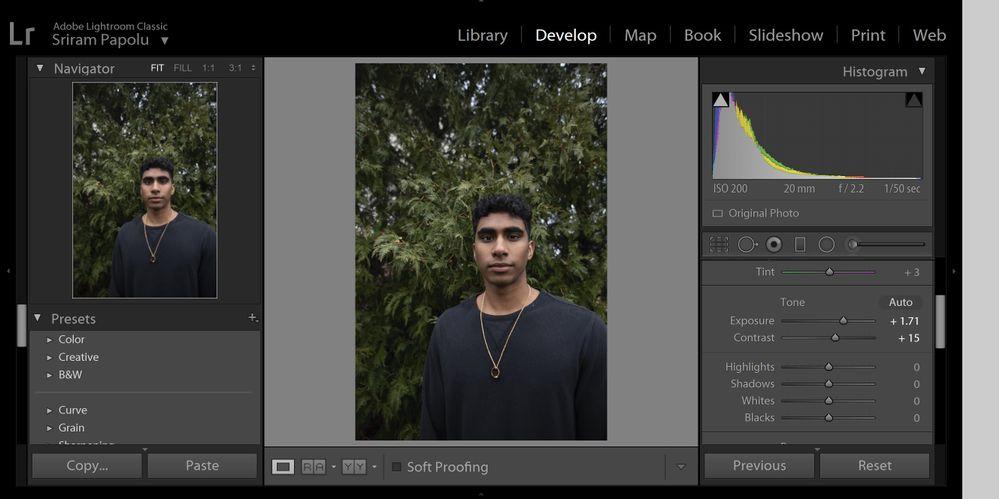 Screenshot from lightroom