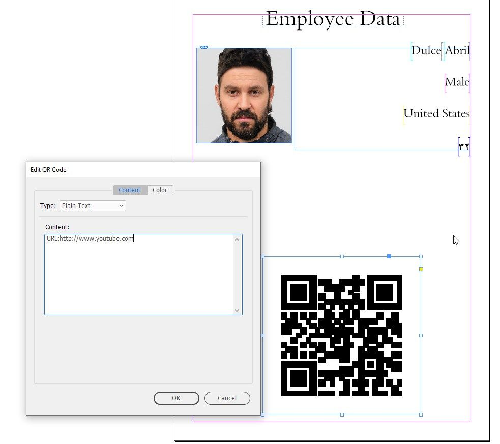 InDesign QR Code Generate Only Plain Text Type.jpg